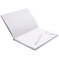 Geschenkset Notizbuch m. Stift, weiß