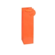 Geschenktasche Nadelstreifen, für Flaschen, 12 x 8 x 36 cm, reißfest, 4er-Set orange