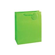 Geschenktasche Nadelstreifen, XXL groß, 26 x 135 x 32 cm, reißfest, 4er-Set grün