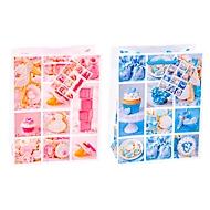 "Geschenktüte Fotomotiv ""Baby"", Format A5, mit Tragekordel & Beschriftungsschild, B 180 x T 100 x H 230 mm, PP-Folie, rosa-blau, 12 Stück sortiert"