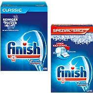 Geschirrreiniger-Pulver Finish Classic, mit Aktiv-Einweichstoffen, 4,5 kg + Spülmaschienensalz Finish, 1,2 kg