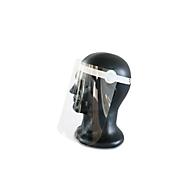 Gesichtsschutzmaske, mit Visier, größenverstellbar, aus Polypropylen/Kunststoff, weiß/transparent