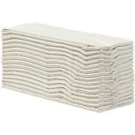 Gevouwen handdoeken, papier, 2-laags, C-vouw, natuurlijk wit, 2400 vel