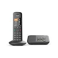 Gigaset C570A DECT Schnurlostelefon, Schwarz, Anrufbeantworter & Rufnummernanzeige