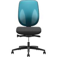 Giroflex Bürostuhl Modell 353, ohne Armlehnen, schwarz/blau