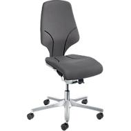Giroflex Bürostuhl Modell 64, ohne Armlehnen, verschleißfreie Synchronmechanik, bis 150 kg, grau