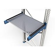 Gitterrost, eingelegt, Rahmentiefe 850 mm, lichte Feldweite 1900 mm