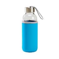 Glas-Flasche, Blau, Standard, Auswahl Werbeanbringung erforderlich