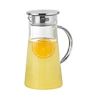 Glaskaraffe PORTO, Borosilikatglas, hitzebeständig, 1 l, H 226 x ø 108 mm, Silikondichtung, mit Griff