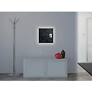 Glasmagnetboard Sigel Business artverum® LED light, Schiefer Stone, beschreibbar, 480 x 480 mm