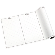 Global Notes Kanban-board, 8 planken per rol, L 300 x B 508 mm, incl. plakbriefjes.