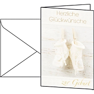 Glückwunsch-Karten Baby, inkl. weißer Umschläge, 10 Stück