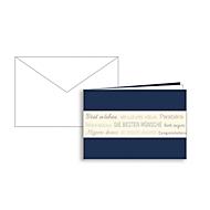 Glückwunschkarte Korsch, Die Besten Wünsche, doppelte Einlage, 170 x 115 mm, 215 g/m², blau/creme, 10 Stück