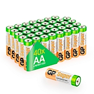 GP Batterien Multipack, 40 x Mignon AA, 1,5 V