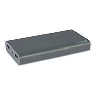 GP Powerbank B20A Grau, 20.000 mAh, Micro-USB-Eingang, 2x 5V USB-A-Ausgänge, Pass-Through-Charging