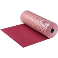 Grand rouleau de papier cadeau, rouge/rayé rouge-blanc