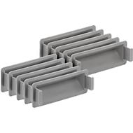 Greepsluiting voor Euronorm bak, grijs, 10 stuks