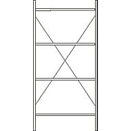 Grundregal, 4 Böden, H 2278 x B 1055 x T 300 mm, lackiert