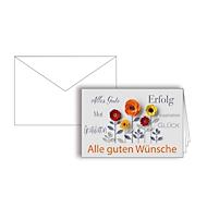 """Grußkarte """"Alle guten Wünsche"""", Format B6, 170 x 115 mm, mit Kuverts & doppelten Einlagen, orange, Karton, 10 Stück"""