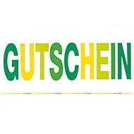 Gutschein gelb/grün, 10 St.