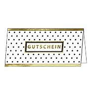 """Gutscheinkarte Sigel """"Golden Glimmer"""", Format DIN lang, 210 x 105 mm, Innentext, mit transparenten Umschlägen, Glanzkarton mit Goldprägung, 10 Stück"""