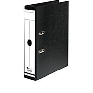 Hängeordner, Format A4, Hebelmechanik, Rückenschild & Griffloch, Rückenbreite 75 mm, Karton, schwarz, 1 Stück