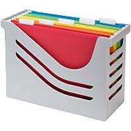 Hängeregisterbox Jalema Re-Solution A4 für 15 Hängemappen, inkl. 5 Mappen, grau