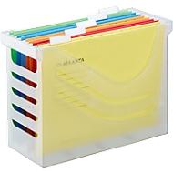 Hängeregisterbox Jalema Re-Solution A4 für 15 Hängemappen, inkl. 5 Mappen, weiß-transparent