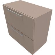 Hängeregisterschrank SOLUS PLAY, 2 Ordnerhöhen, B 800 x T 440 x H 748 mm, Stone grey