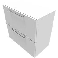 Hängeregisterschrank SOLUS PLAY, 2 Ordnerhöhen, B 800 x T 440 x H 748 mm, weiß