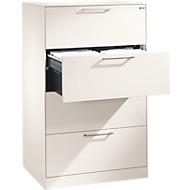 Hängeregistraturschrank ASISTO C 3000, 4 Schubladen, 2-bahnig, B 800 mm, weiß/weiß