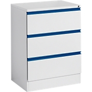 Hängeregistraturschrank HD 23 SP, lichtgrau/enzianblau