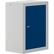 Hängeschrank MS 420, B 420 x T 320 x H 600 mm, enzianblau, Korpus lichtgrau