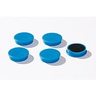 Haftmagnete, Ø 30 mm, Haftkraft ca. 700 g, 5 Stück, blau