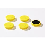 Haftmagnete, Ø 30 mm, Haftkraft ca. 700 g, 5 Stück, gelb