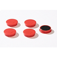 Haftmagnete, Ø 30 mm, Haftkraft ca. 700 g, 5 Stück, rot
