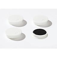 Haftmagnete, Ø 40 mm, Haftkraft ca. 1200 g, 4 Stück, weiß