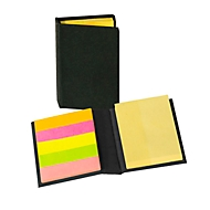 Haftnotiz-Buch Mini, Schwarz, Standard