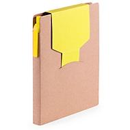 Haftnotizbuch, farbige Stecklasche, gelb