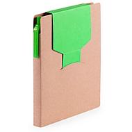 Haftnotizbuch, farbige Stecklasche, grün