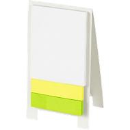 Haftnotizen Aufsteller, mit 80 Haftnotizblättern, Werbefläche 50 x 20 mm, weiß