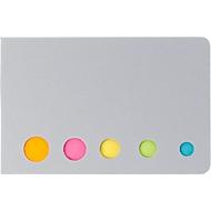 Haftnotizen-Set, jeweils ca. 20 Blatt, inkl. einfarbigem Druck u. allen Grundkosten, silber