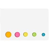 Haftnotizen-Set, jeweils ca. 20 Blatt, inkl. einfarbigem Druck u. allen Grundkosten, weiß