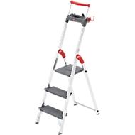 Hailo Stufenstehleiter ProfiLine S225 XXR, Traglast 225 kg, 3 Stufen