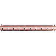 Hakenleiste für Schlüsselschranke, L 300 mm, für bis zu 10 Schlüssel, rot