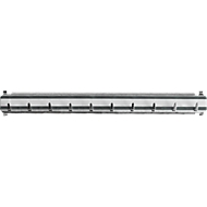 Hakenleiste für Schlüsselschranke, L 300 mm, für bis zu 10 Schlüssel, schwarz