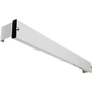 Hakenleiste für Umkleidebank-System, 1015 mm lang, Alu, lichtgrau