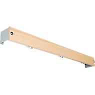Hakenleiste für Umkleidebank-System, 1015 mm lang, Holz, lichtgrau