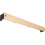 Hakenlijst voor kleedkamerbanksysteem, 1015 mm lang, hout, antraciet