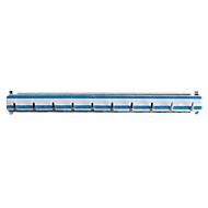 Hakenrek voor sleutelkast, L 300 mm, voor max 10 sleutels, blauw